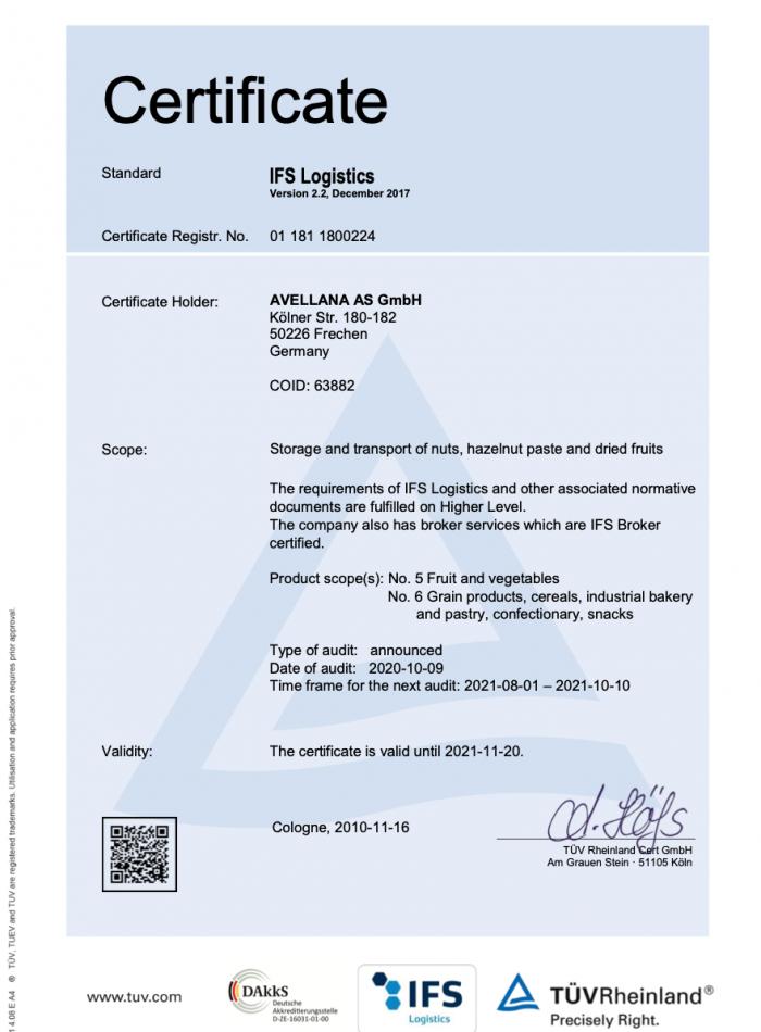 Avellana IFS Logistic